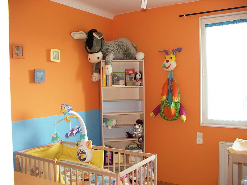 Peinture orange chambre bebe - Idées de tricot gratuit