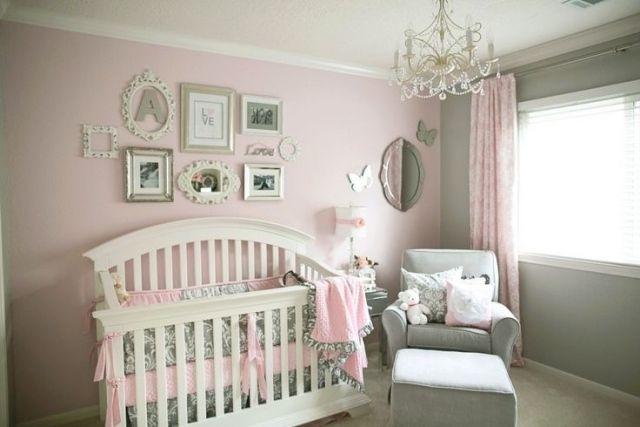 Chambre bébé rose pale
