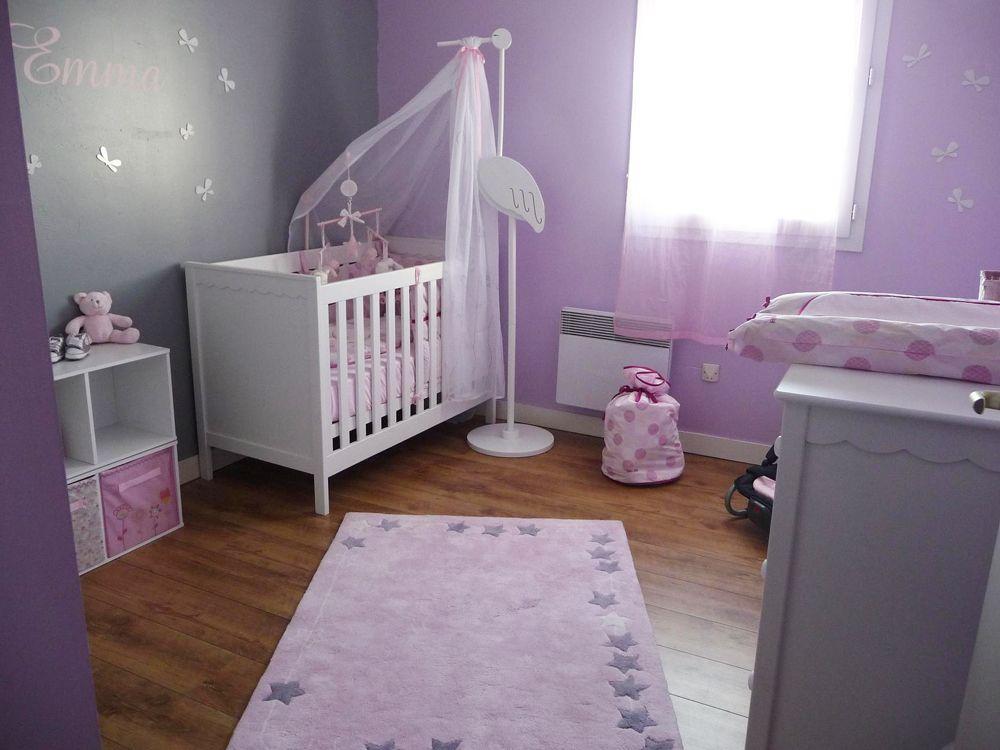 Chambre bebe fille mauve et gris - Idées de tricot gratuit