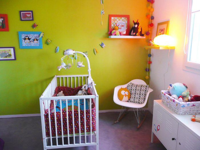 Chambre bebe fille verte