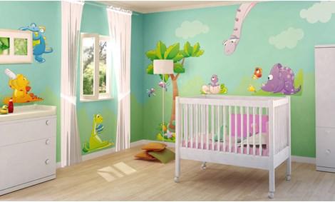 Chambre bébé dinosaure