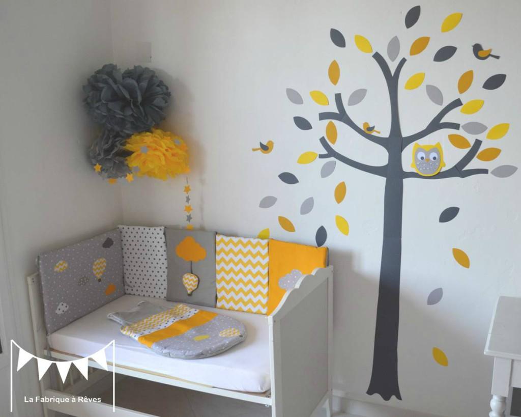 Chambre bébé jaune et gris - Idées de tricot gratuit