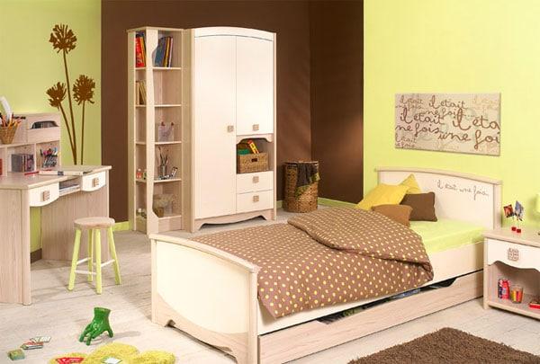 Chambre bébé marron vert anis - Idées de tricot gratuit