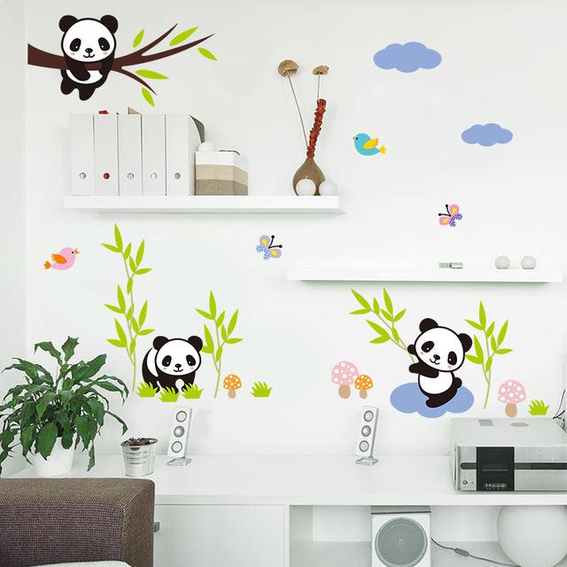 Stickers chambre bébé panda