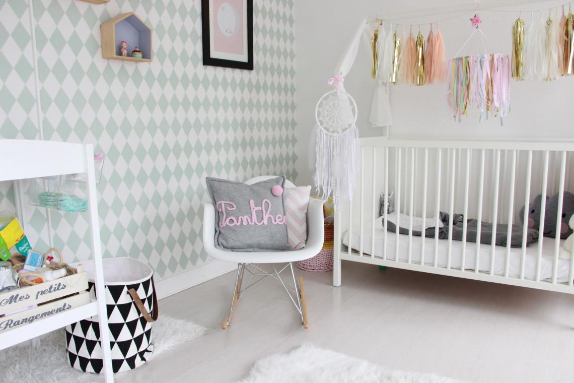 Chambre scandinave rose bebe - Idées de tricot gratuit