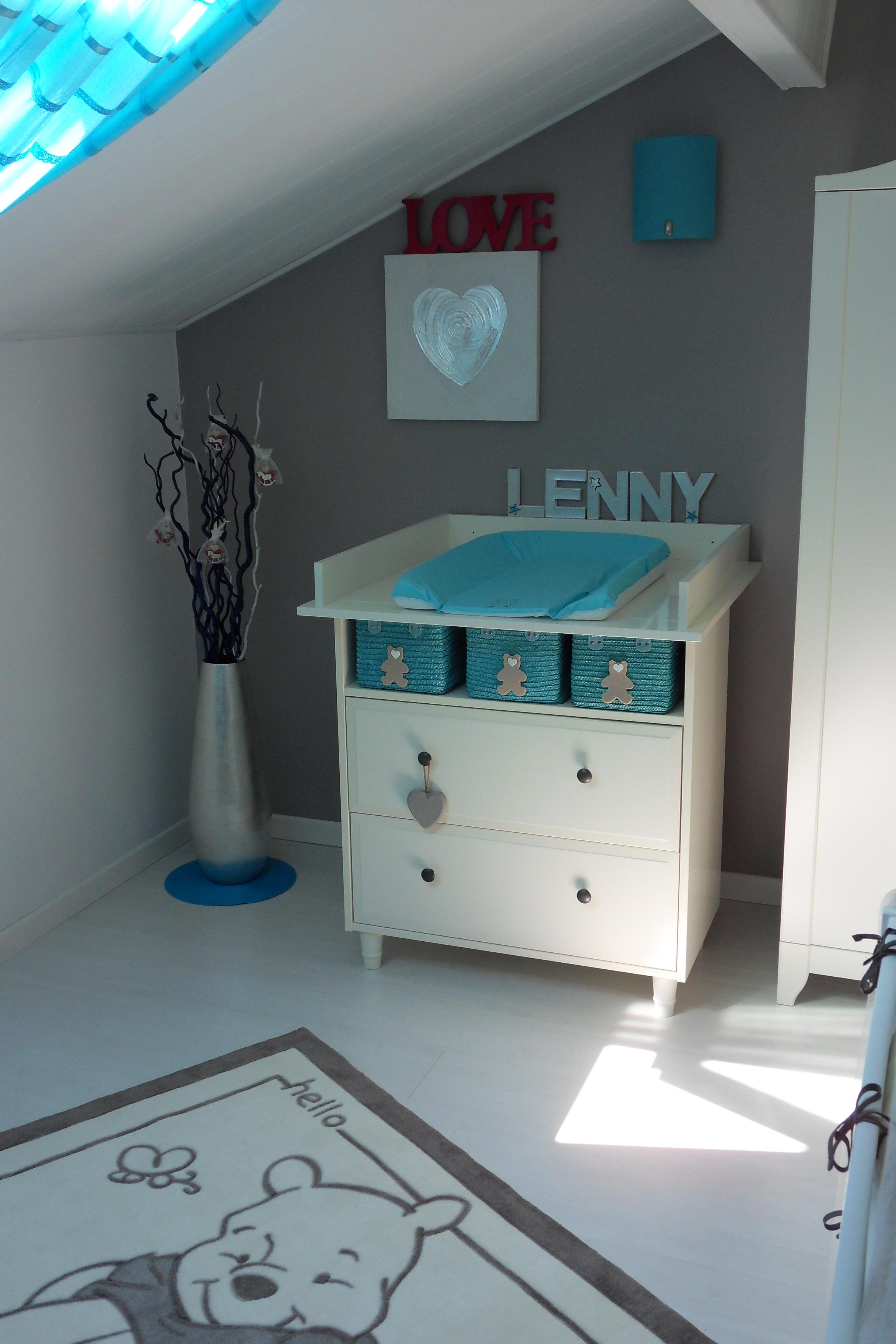 Chambre Bebe Turquoise Et Blanc