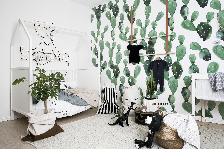 Chambre bébé thème cactus