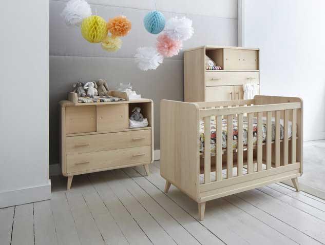 Chambre bébé en bois brut à peindre - Idées de tricot gratuit