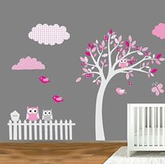 Stickers papillon chambre bébé fille