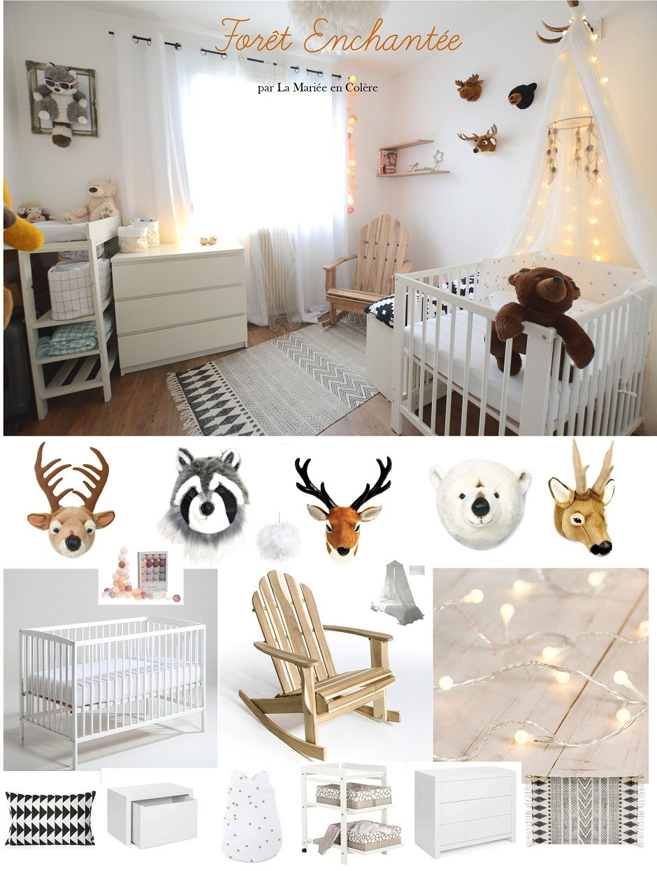 Chambre bebe fille foret