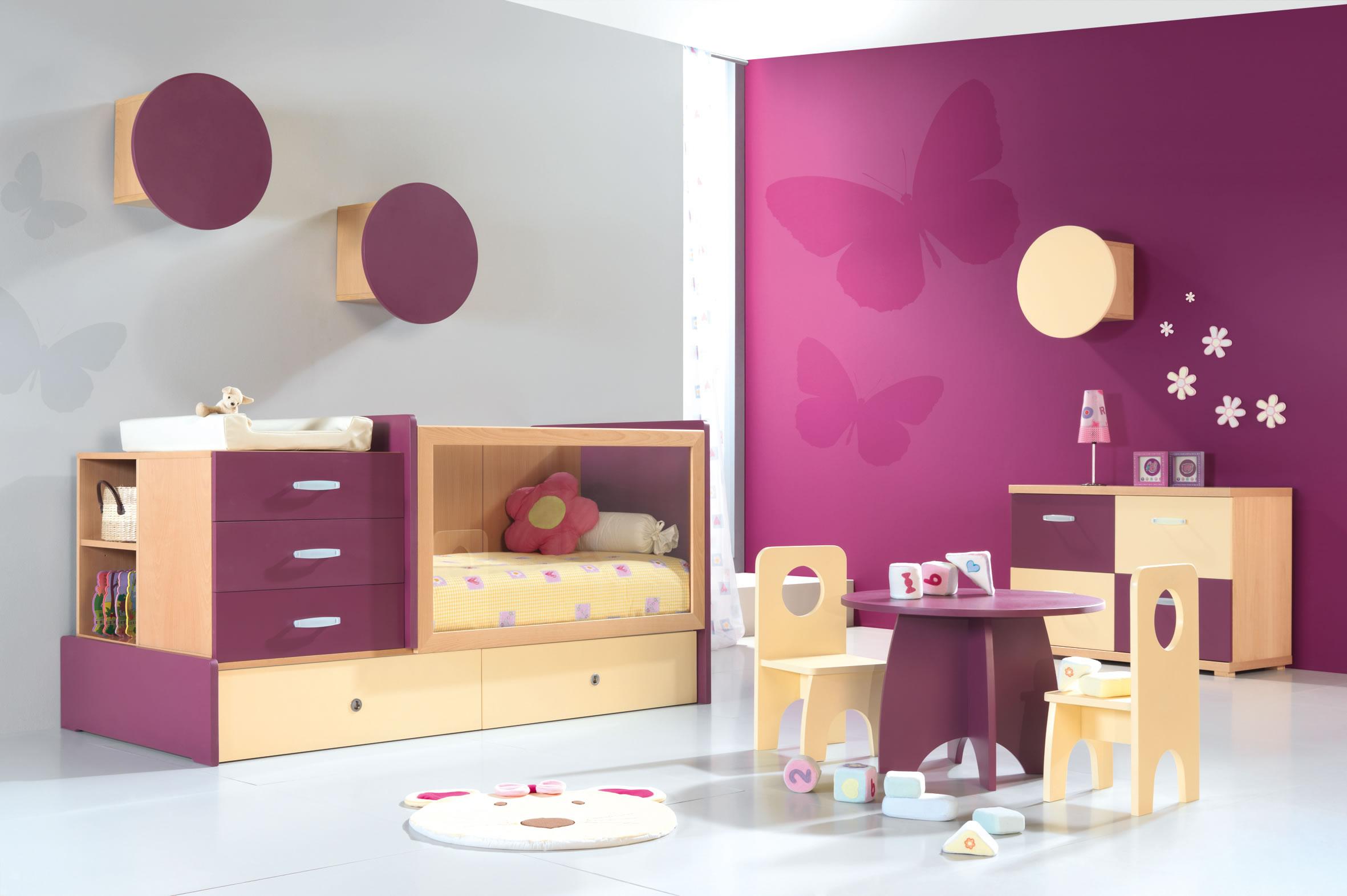 Chambre bébé couleur flashy - Idées de tricot gratuit