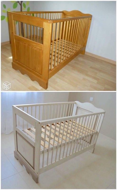 peindre un lit b b en bois id es de tricot gratuit. Black Bedroom Furniture Sets. Home Design Ideas