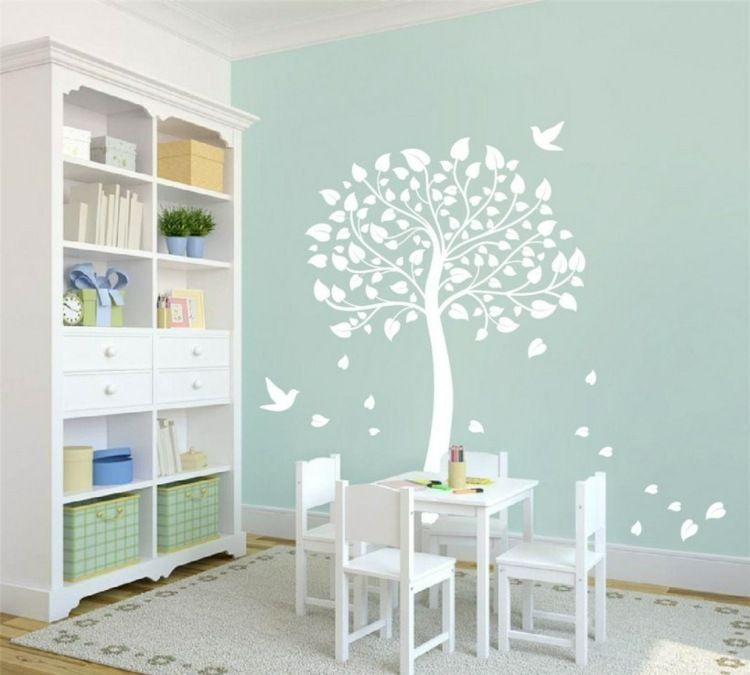 Peinture arbre chambre bebe