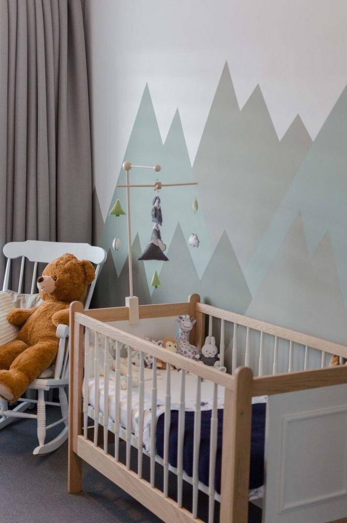 Chambre bebe peinture montagne id es de tricot gratuit - Chambre bebe peinture ...