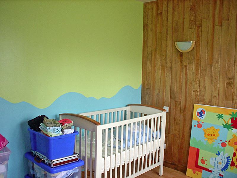 Chambre Bébé Vert Anis Et Bleu Turquoise Idées De Tricot Gratuit