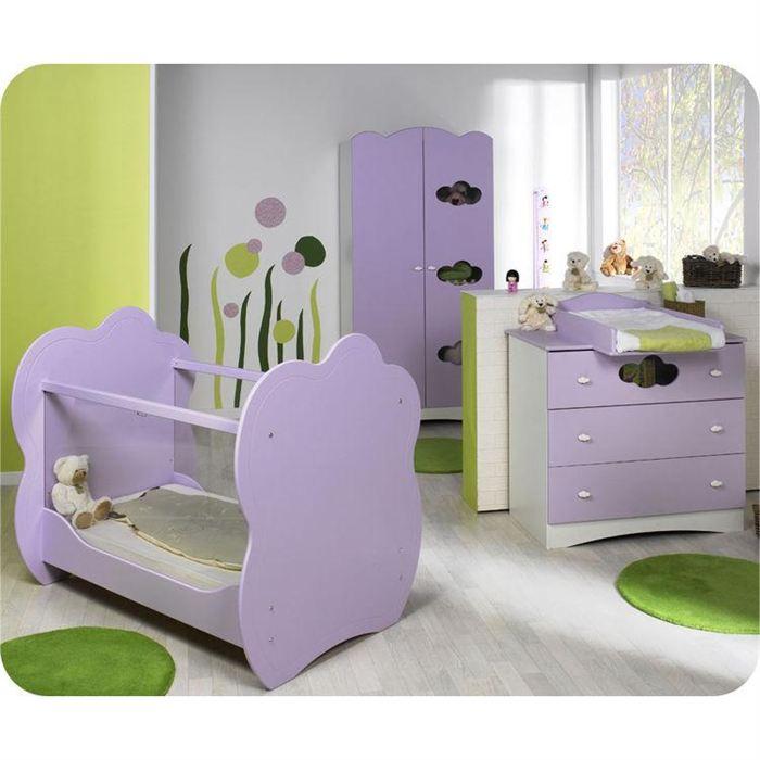 Chambre bebe iris parme