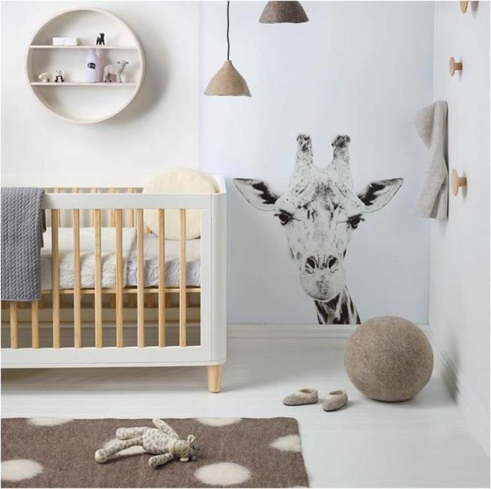 Décoration chambre bébé girafe