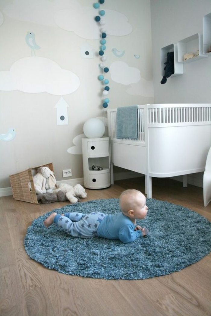 Chambre bebe en bleu - Idées de tricot gratuit