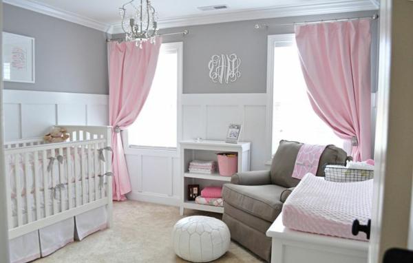 Décoration chambre bébé fille rose et gris - Idées de tricot gratuit