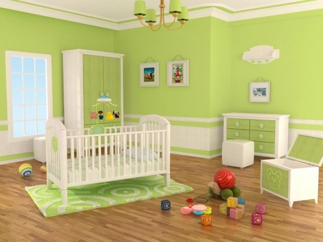 Chambre bebe vert et beige - Idées de tricot gratuit