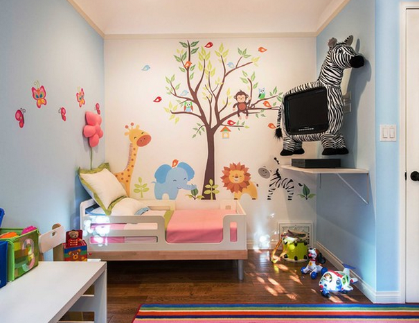 Chambre de bebe theme jungle - Idées de tricot gratuit