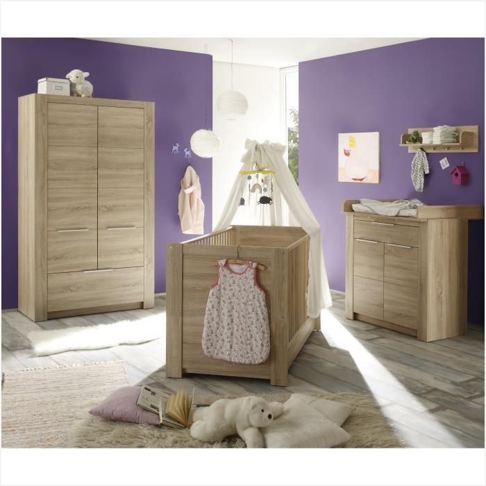 Chambre bebe meuble beige