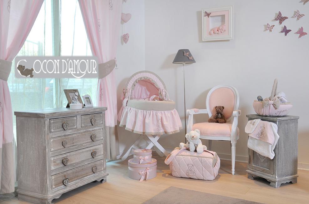 Deco chambre bebe beige et rose
