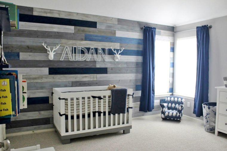 Decoration chambre bebe garcon bleu et gris - Idées de tricot gratuit