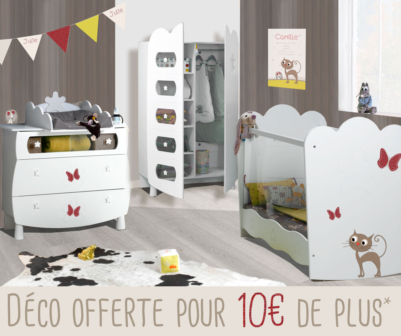 Chambre bebe complete chat