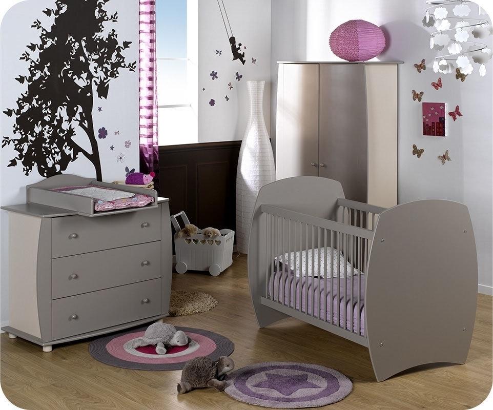 Olivia chambre bébé complète lit 70x140 cm + armoire + commode ...