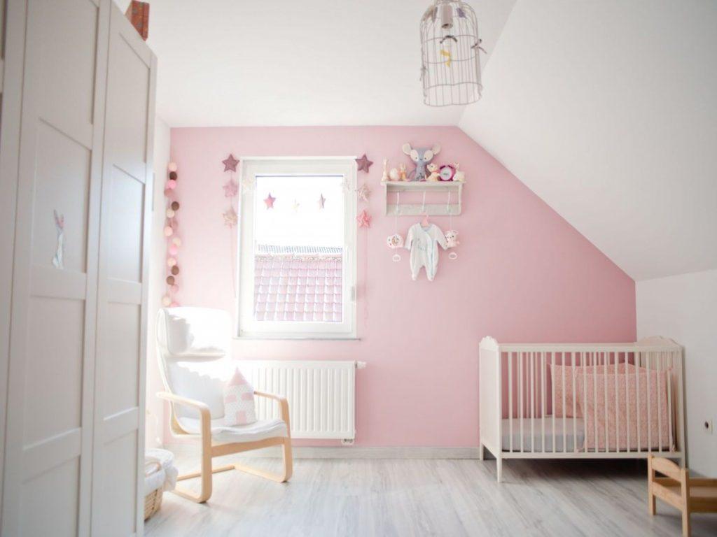 decoration chambre bebe gris et rose