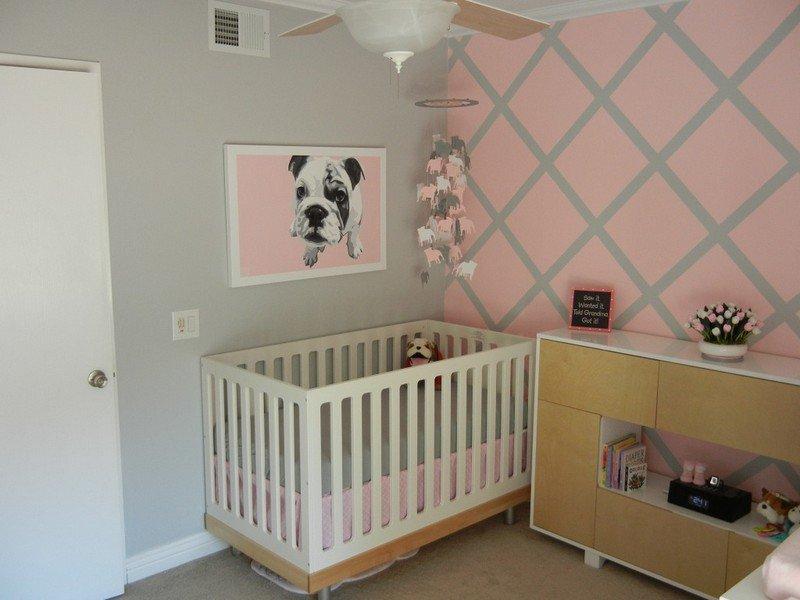 Peinture chambre bébé fille rose et gris - Idées de tricot ...