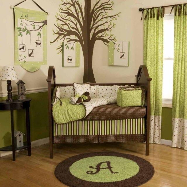 Superbe Chambre Bebe Vert Anis Et Blanc