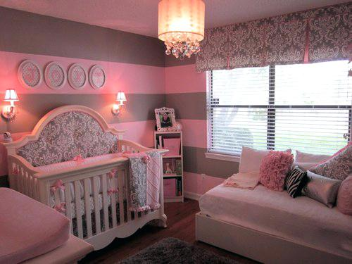 Chambre Bebe Rose Taupe