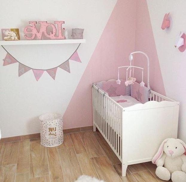 chambre bebe rose et gris