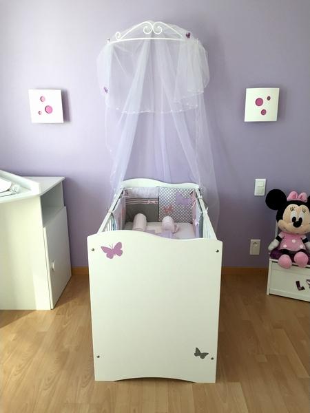 Idee deco chambre bebe fille mauve - Idées de tricot gratuit
