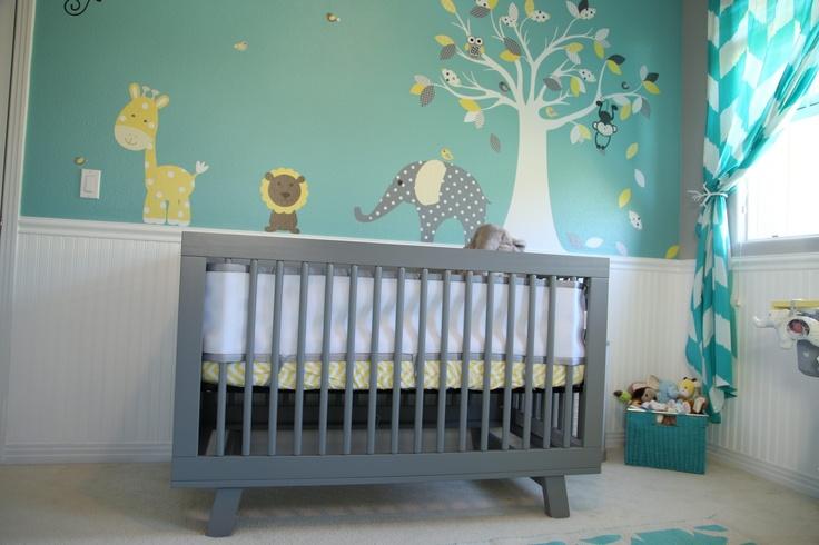 Chambre bébé verte et grise - Idées de tricot gratuit
