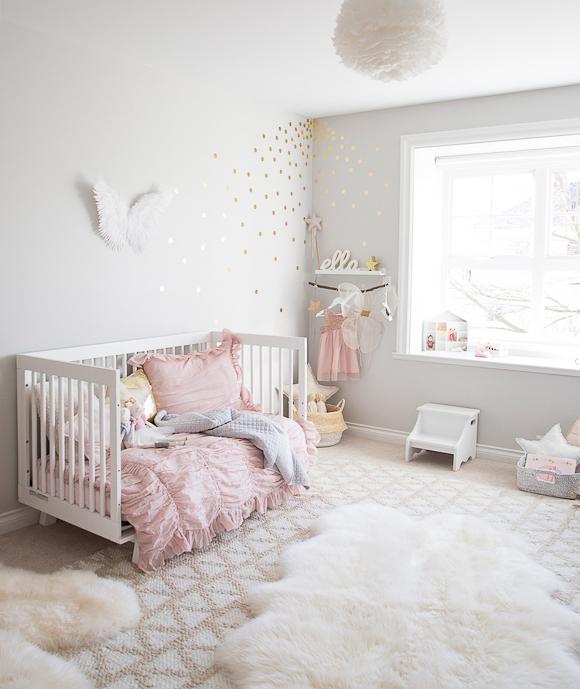Décoration chambre bébé rose poudré - Idées de tricot gratuit