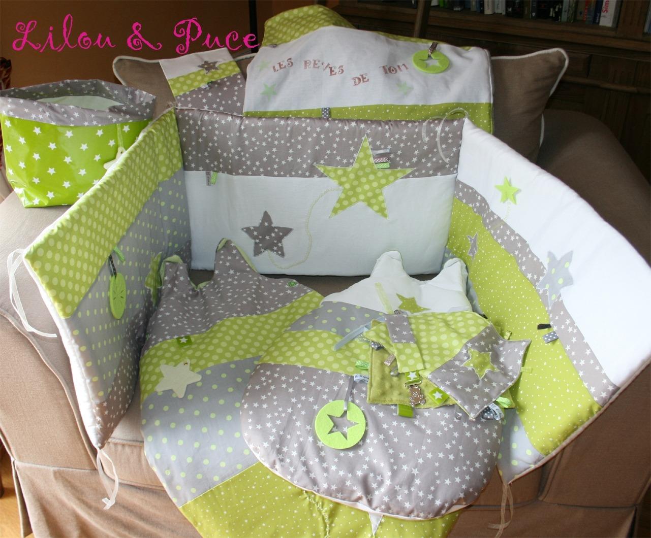 Chambre bébé taupe et vert anis - Idées de tricot gratuit