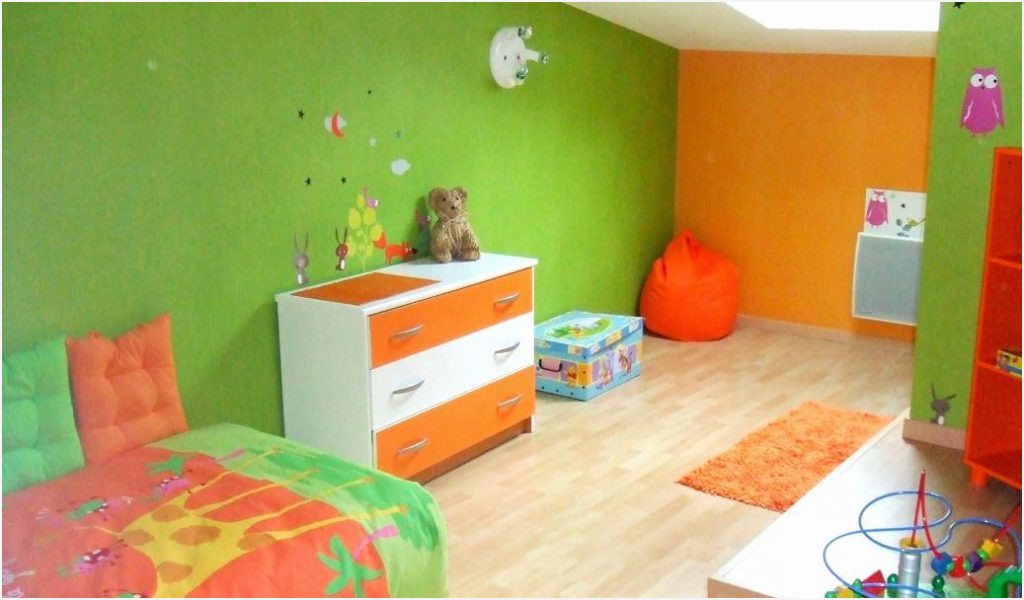 Beautiful Chambre Fille Orange Et Vert Ideas - House Design ...