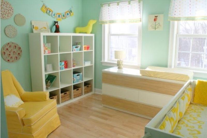 Chambre bébé vert et bleu - Idées de tricot gratuit