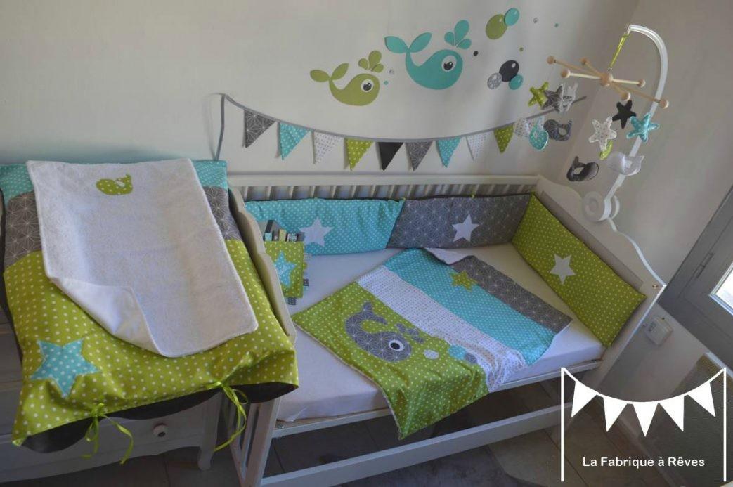 Chambre bebe bleue et verte - Idées de tricot gratuit