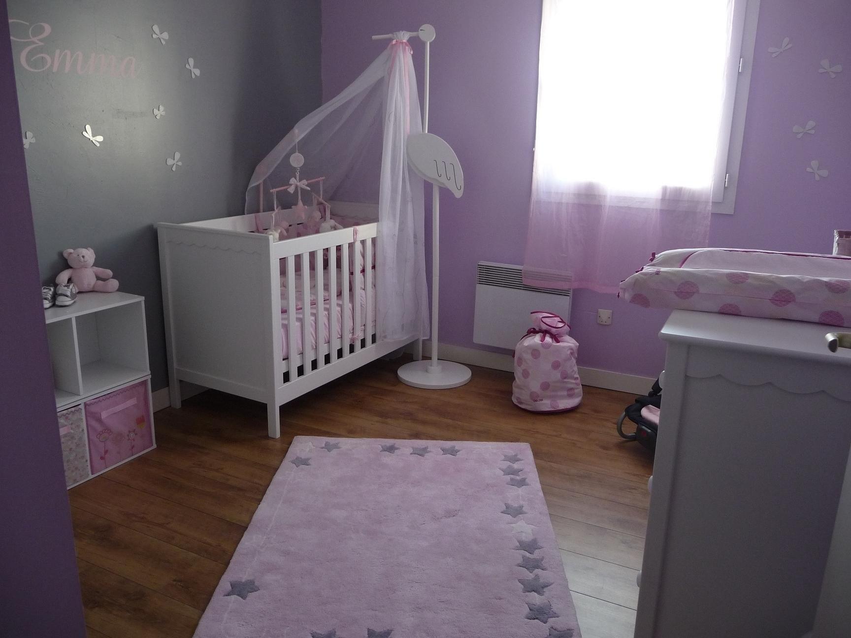 Idee deco chambre bebe prune - Idées de tricot gratuit