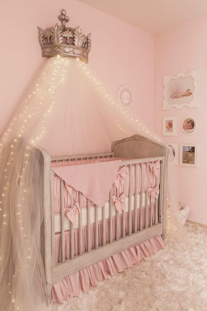Chambre Bebe Fille Rose Et Or