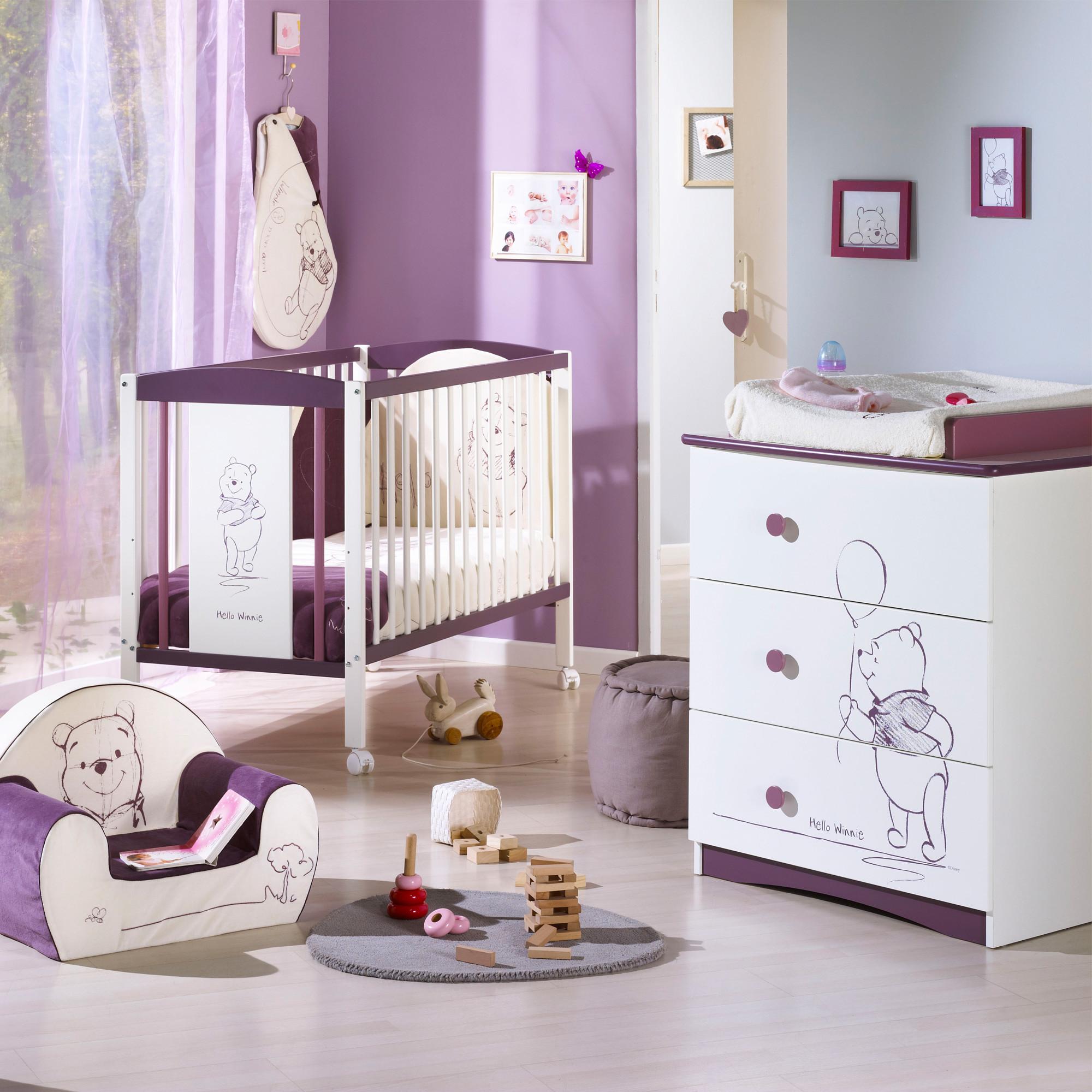 Sauthon chambre complète pour bébé winnie l\'ourson - Idées de tricot ...