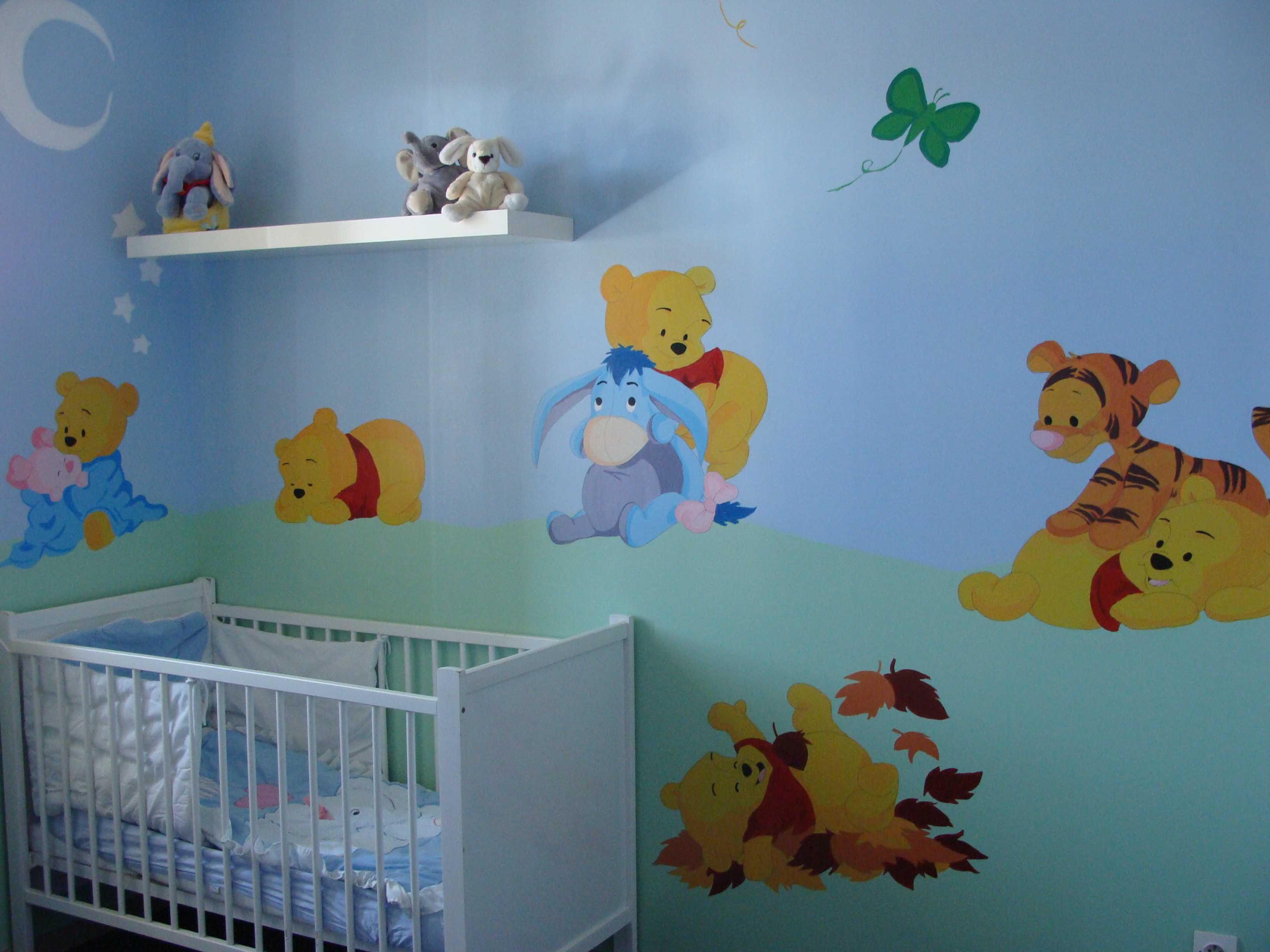 Decoration chambre winnie l\'ourson bebe - Idées de tricot ...