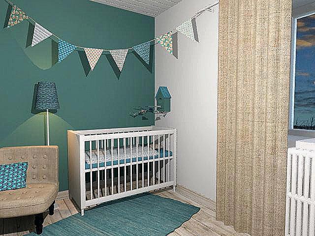 Chambre bébé bleu vert - Idées de tricot gratuit