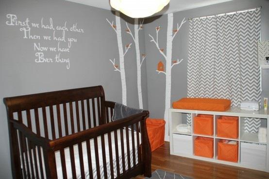 Chambre bebe turquoise orange - Idées de tricot gratuit