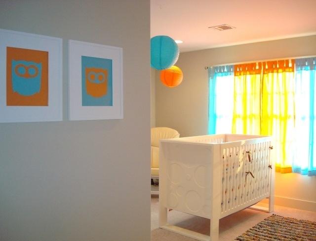 Chambre de bébé garçon orange - Idées de tricot gratuit