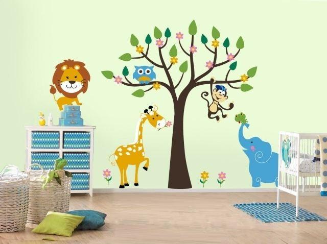Chambre bebe animaux jungle - Idées de tricot gratuit